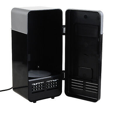 Mini USB LED Refrigerator Fridge Beverage Cooler Warmer for Car Home Office