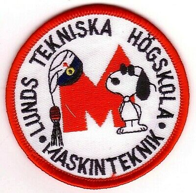 Swedish Peanuts Snoopy Cartoon Character Embroidery Applique Patch