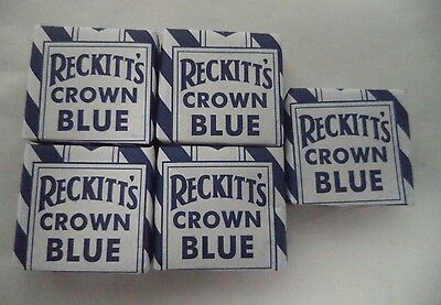 Reckitt's Crown Blue: Laundry and Religious Cleaning Squares: 5 Pack