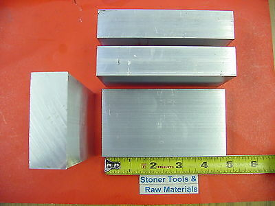 "4 Pieces 1""x 2-1/2"" ALUMINUM 6061 FLAT BAR 4.5"" long T651 Solid Plate Mill Stock"