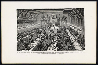 Antique Print-BANQUET-ENTREMET-FRENCH COURT-FRANCE-MIDDLE AGES-Lacroix-1874