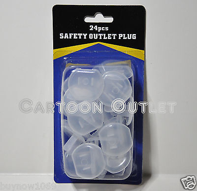 24 pcs SAFETY OUTLET PLUG COVERS PROTECTER CHILD BABY PROOF ELECTRIC SHOCK GUARD