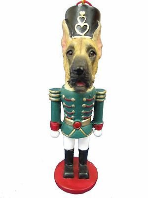 GREAT DANE Fawn Dog Soldier Holiday NUTCRACKER ORNAMENT