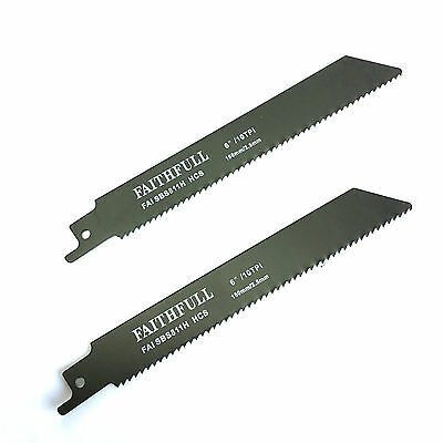 FAITHFULL S811H RECIPROCATING (SABRE) RECIPRO FOR WOODS SAW BLADES - Pack of 2