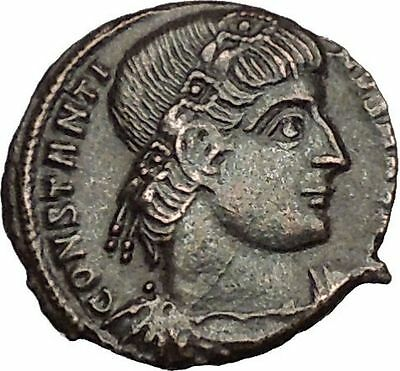 Constantine I The Great 330AD Ancient Roman Coin Glory of Arny Legions i53045