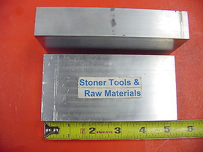 "2 Pieces 1""x 2-1/2"" ALUMINUM 6061 FLAT BAR 5"" long T651 Solid Plate Mill Stock"