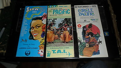 South Pacific Travel Brochure Lot - Early 1960's 3 Diff.