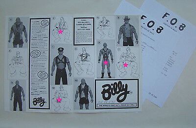 "Billy Gay Doll 1st Edition FOB Brochure: pre-Totem 16"" original latex model 1995"