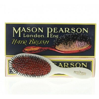 Mason Pearson Hairbrush Handy Bristle & Nylon BN3 Ivory (white) color