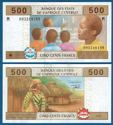 CENTRAL AFRICAN STATES / C.A.R. 500 Francs UNC P.306M