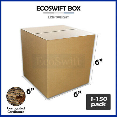 "1-150 6x6x6 ""EcoSwift"" Cardboard Packing Mailing Shipping Corrugated Box Cartons"
