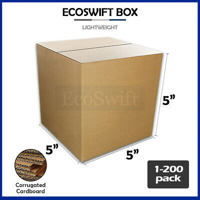 "1-200 5x5x5 ""EcoSwift"" Cardboard Packing Mailing Shipping Corrugated Box Cartons"