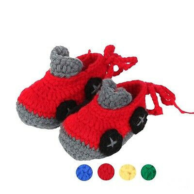 Newborn Baby Casual Crib Crochet Handmade Knit Sock 0-1 Years Old Infant Shoes
