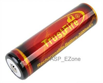 TrustFire Li-ion Rechargeable Battery 18650 3.7V 3000mAh  High Drain Red