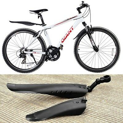 New Mountain Bike Cycle Bicycle Tire Mudguards Set Front Rear Fenders Black 2u