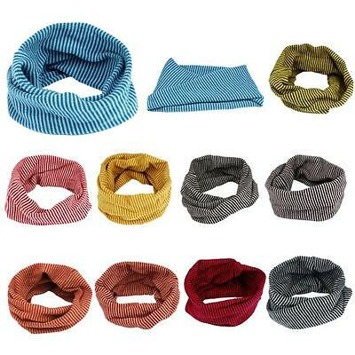 Kid Baby Neck Warmer Scarves Scarf Colors Stitching O-ring Knit Woolen Shawl