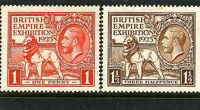 1925 Wembley Set Of Two Exceptionally Lightly Mounted Mint. Sg 432-3