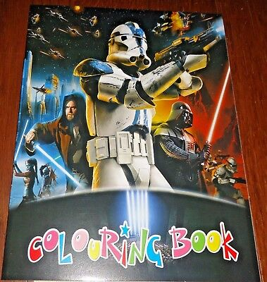 Star Wars 16 Page Coloring Book With Stickers (Brand New)
