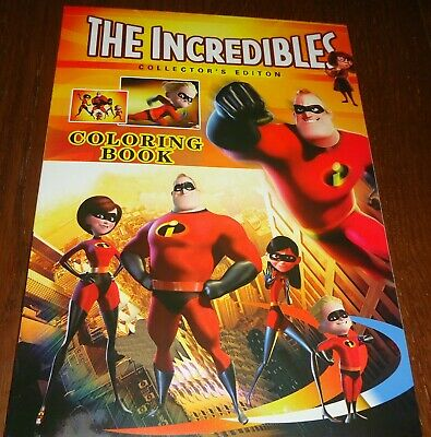The Incredibles 16 Page Coloring Book With Stickers (Brand New)