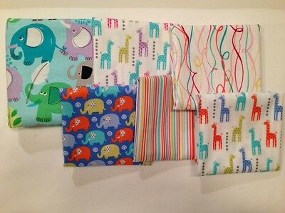 """ANIMALS 12"""" x 16"""" Infant or Travel Pillowcase 100% Cotton NWT FREE SHIPPING!"""