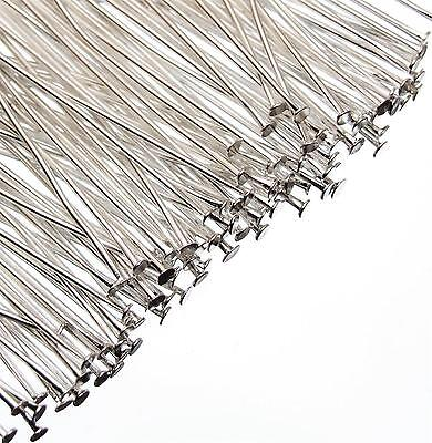 HEADPINS Silver Plated Jewellery Findings Components Head Pins 200, 500 or 1000