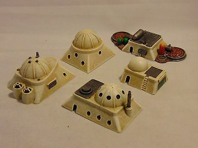 1/300 6mm scale sci-fi Desert buildings X5. suitable for X wing