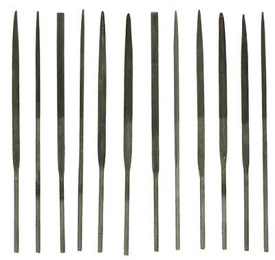 NEEDLE FILE SET PMC Art Clay Silver Tools 12 Fine Metal 4 inch SE7382NF