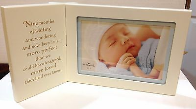 Baby Boy Picture Frame keepsake by Halmark Fits a 4x6 Picture