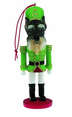 SCHNAUZER Cropped Dog Soldier Holiday NUTCRACKER ORNAMENT