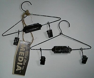 ANTIQUE MINI METAL HANGERS-Vintage Style Display Greeting Cards/CTMH/Stampin Up