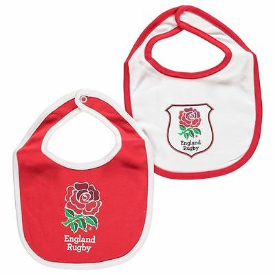 2x Team Kids Rugby Football Union Baby Bibs Contrast Sports Accessories