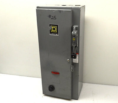 Square D 30-Amp 3-Ph Fusible Safety Disconnect Switch 10hp 600V Motor Starter