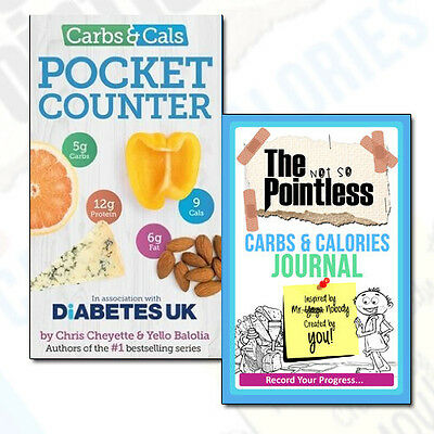 Carbs & Cals Pocket Counter and Carbs & Calories Journal 2 Books Collection Set