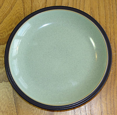Denby Tea or Side Plate with sage green inner and dark green rim and reverse