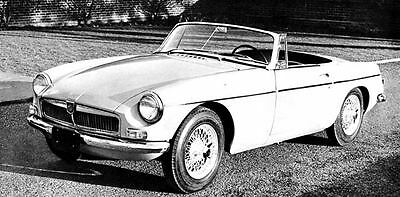 1963 MG MGB Automobile Photo Poster zua4652-8ISP31