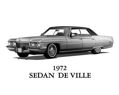1972 Cadillac Sedan DeVille Automobile Photo Poster zua7745-E1JK99