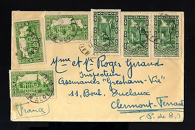 6545-ALGERIA-OLD COVER ALGER to CLERMONT F.(france).1939.WWII.french Colonies