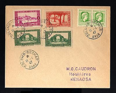 6544-ALGERIA-OLD COVER ORAN to KENADSA.1947.WWII.french Colonies.ALGERIE.