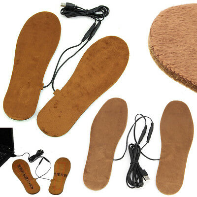 Hot New USB Electric Powered Heated Insoles For Shoes Boots Keep Feet Warm