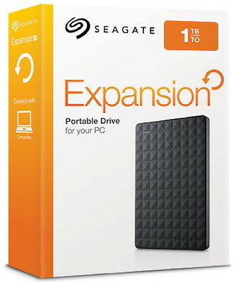 Seagate HDD externe Festplatte Expansion Portable 2,5 Zoll 1TB USB 3.0 schwarz
