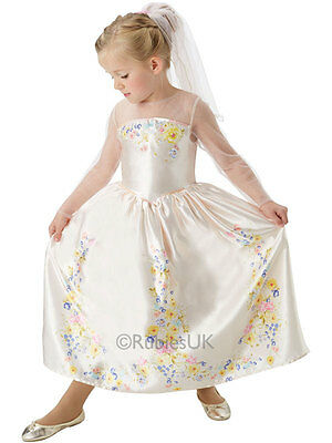 Cinderella Movie Wedding Dress Child Girls Disney Princess Fancy Dress Costume