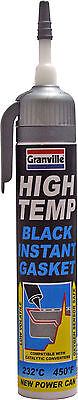Granville High Temperature BLACK Instant Gasket Silicone Sealant Can - 200ml
