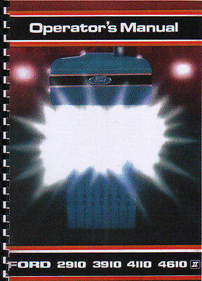 1988 Ford 2910/3910/4110/4610 Force II Tractor Operator Manual Book