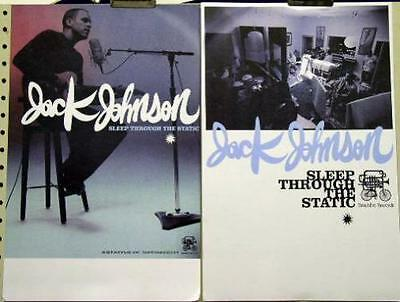 JACK JOHNSON 2008 sleep through the static 2 side poster ~MINT condition~!!