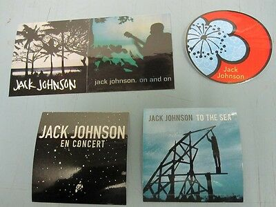 JACK JOHNSON promotional BRUSHFIRE RECORDS 4 sticker set ~MINT condition~!!