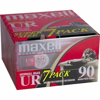 Maxell 108575 UR Type I Audio Cassette - 7 x 90Minute - Normal Bias