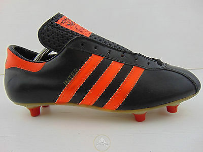 Vintage 70 ADIDAS Inter Scarpe Calcio 6.5 Soccer Shoes Boots West Germany