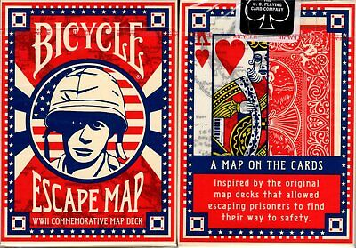 Escape Map Deck Bicycle Playing Cards Poker Size USPCC Limited Edition New WWII