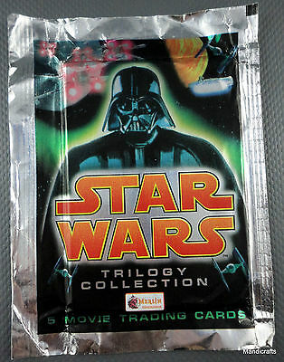 Merlin UK Star Wars Trilogy Topps Trading Cards Sealed Pack 5 Special Ed 1997