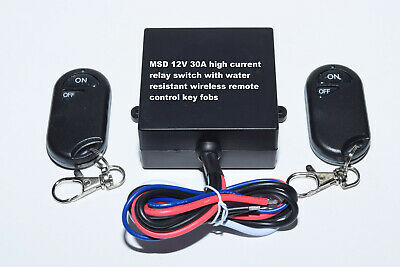 12V 30A on off remote control relay switch with 2 wirless key fob RX10-2
